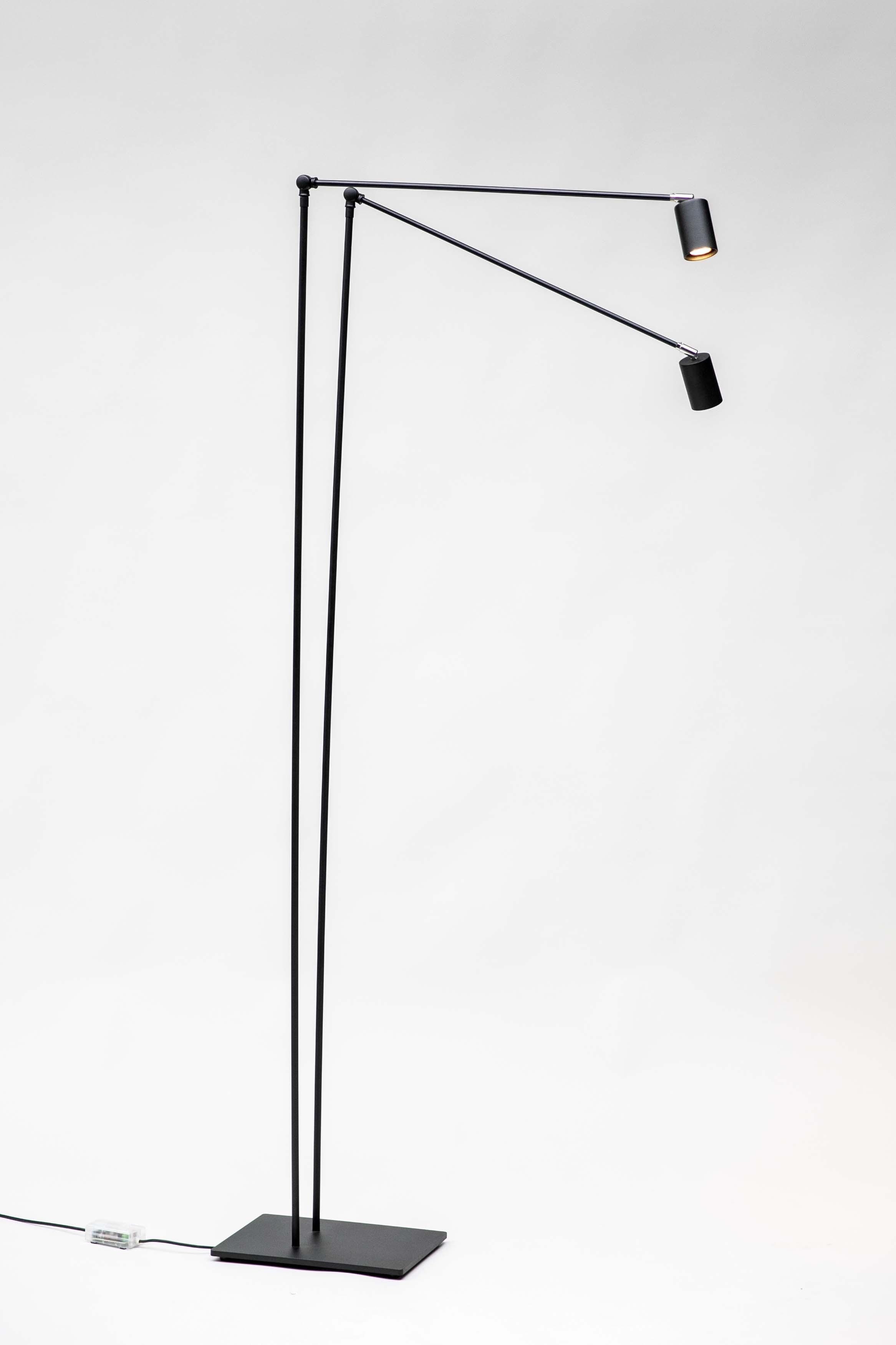 Staande lamp Duett - wit chroom | boekenkamer | …