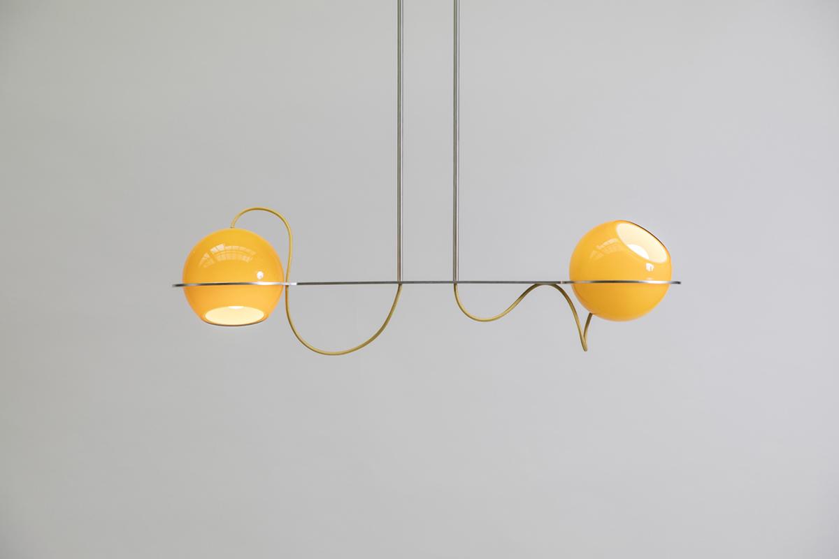 jeu de boules hanglamp tafel horizontaal