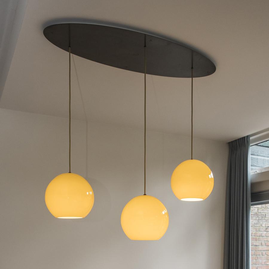 hanglamp tafel 3 bollen