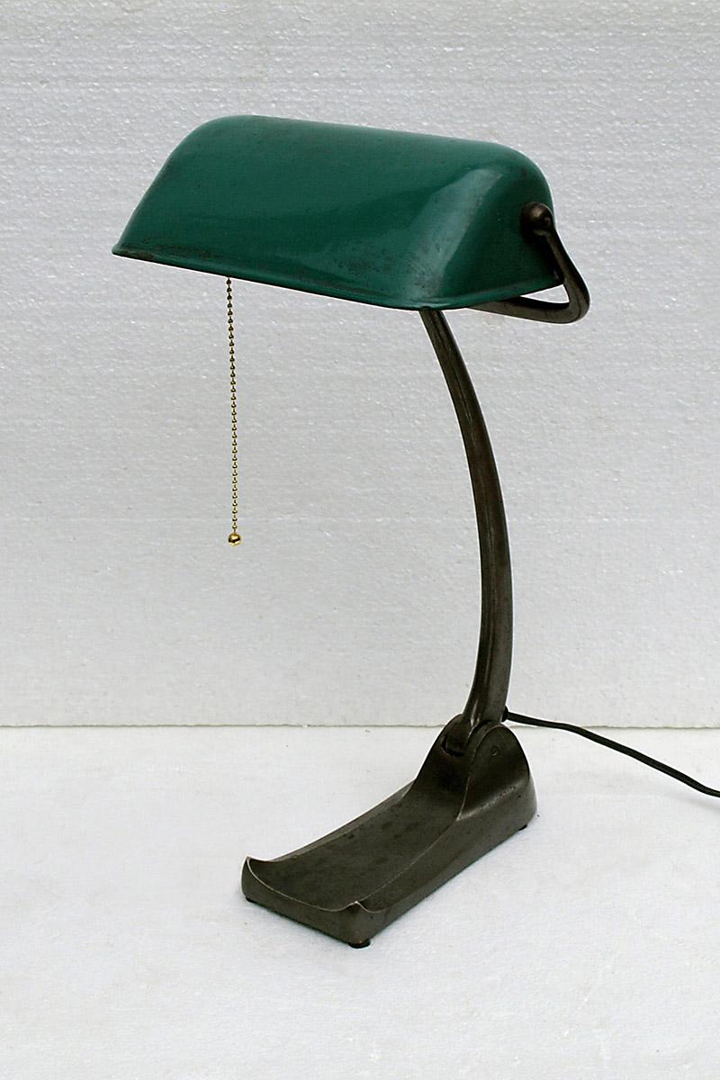 Burolamp met groen glas