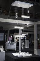 Lichtobject gefused en geblazen beurs