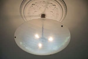 Hanglamp schaal wit gefused glas