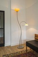 Staande lamp met asymmetrisch glas