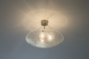 Hanglamp Schaal Gefused glas wit