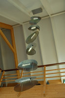 Gefused glas schelp hanglamp vide