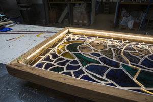 Replica Glas in Lood paneel met licht