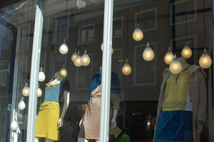 Druppel hanglamp etalage
