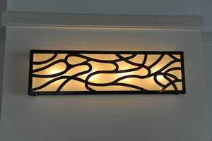 Wandlamp Mie-leng Gefused glas