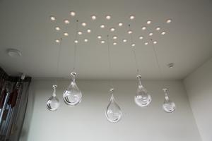 Druppel lichtobject keuken