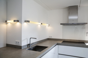 Gecast glas keuken verlichting