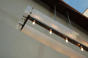 Onderaanzicht Hanglamp Gefused Glas