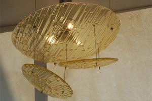Hanglamp schalen gefused glas