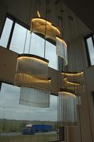 Ledbogen lichtobject trappenhuis