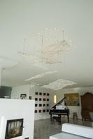 Lichtobject gefused glas woonkamer