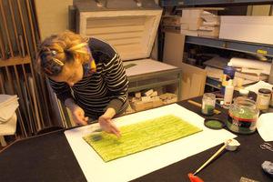 Maken gefused glas lichtobject
