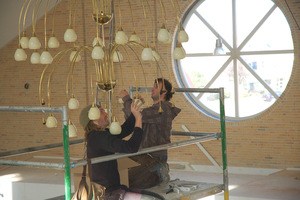 op maat gemaakte grote hanglamp