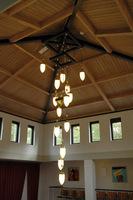 grote design hanglamp aula