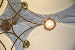 Detail Hanglamp met lenzen